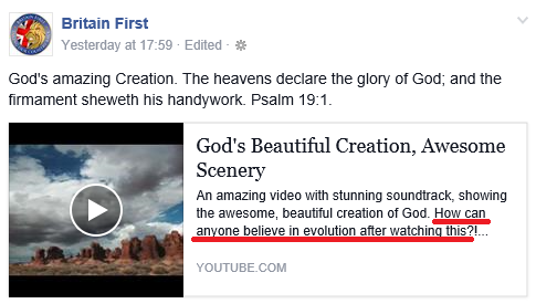 BF creationist evolution evangelism