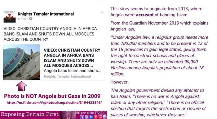 EBF BF Angola Gaza mosque ban muslim islam hoax