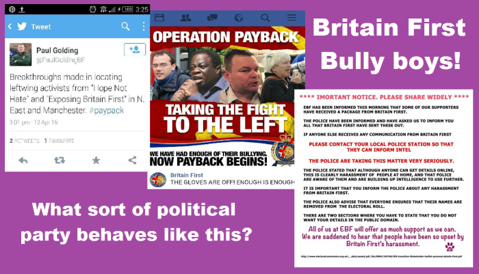 BF bullying payback What sort of political party