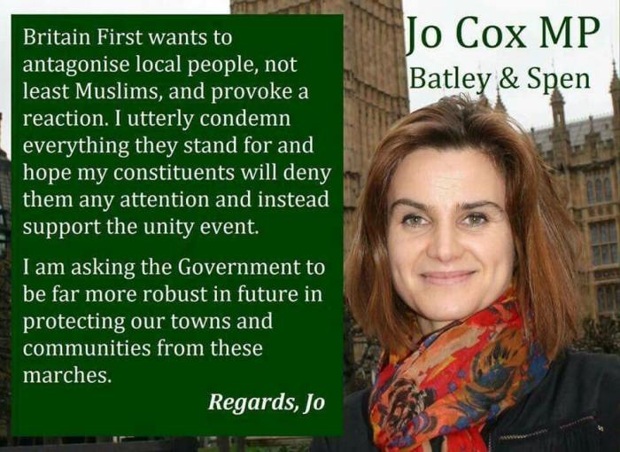 Jo Cox MP BF comments