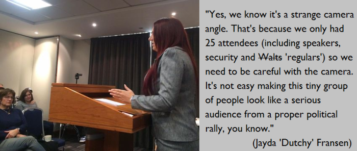 BF Jayda Fransen 25 in audience London conference.png